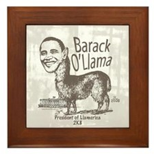 Barack O'Llama 2008 Framed Tile
