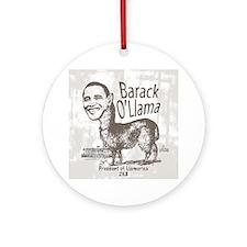 Barack O'Llama 2008 Ornament (Round)