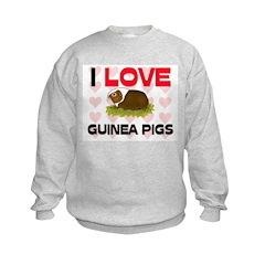 I Love Guinea Pigs Sweatshirt