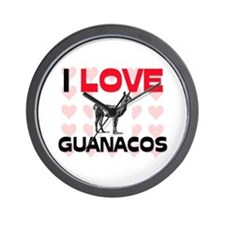 I Love Guanacos Wall Clock