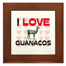 I Love Guanacos Framed Tile