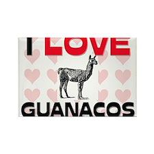 I Love Guanacos Rectangle Magnet