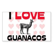 I Love Guanacos Rectangle Decal