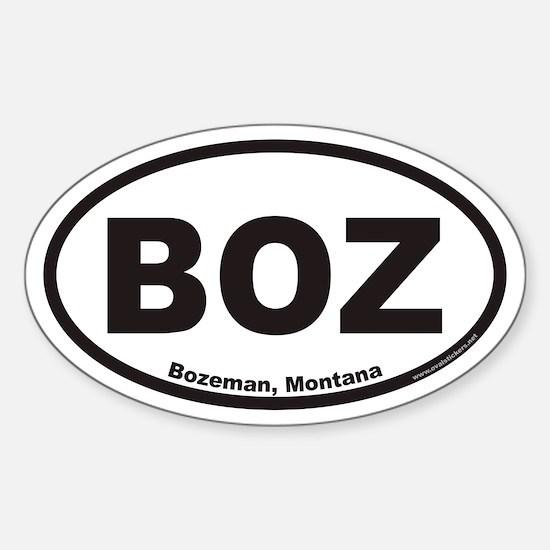 Bozeman BOZ Euro Oval Decal
