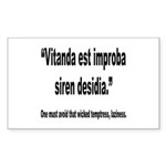 Latin Wicked Laziness Quote Rectangle Sticker 10