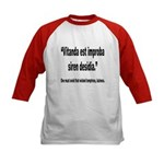 Latin Wicked Laziness Quote (Front) Kids Baseball