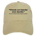 Latin Wicked Laziness Quote Cap