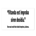 Latin Wicked Laziness Quote Postcards (Package of