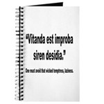 Latin Wicked Laziness Quote Journal