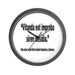 Latin Wicked Laziness Quote Wall Clock