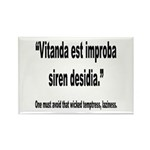 Latin Wicked Laziness Quote Rectangle Magnet (10 p