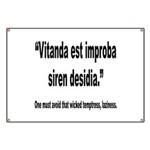 Latin Wicked Laziness Quote Banner