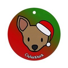 Cartoon Chihuahua Christmas Ornament