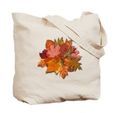 Colorful Autumn Foliage Reusable Tote Bag