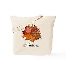 Colorful Autumn Foliage Reusable Tote Bag