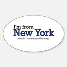 I'm from NY Oval Decal