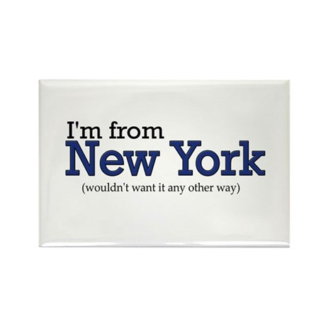 I'm from NY Rectangle Magnet
