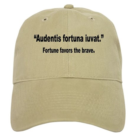 Latin Brave Fortune Quote Cap