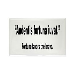 Latin Brave Fortune Quote Rectangle Magnet (10 pac