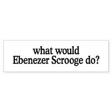 Ebenezer Scrooge Bumper Bumper Sticker
