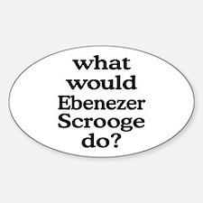 Ebenezer Scrooge Oval Decal