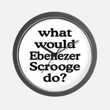 Ebenezer Scrooge Wall Clock
