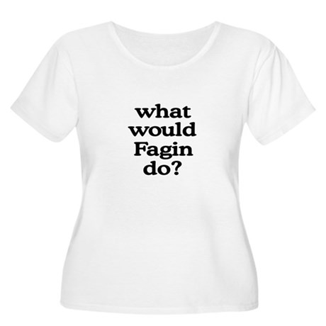Fagin Women's Plus Size Scoop Neck T-Shirt