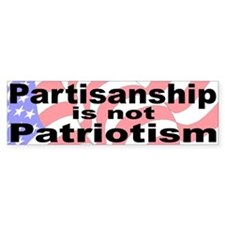 Patriotic Bumper Bumper Sticker