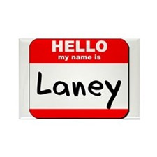 Hello my name is Laney Rectangle Magnet