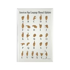 American Sign Language ASL Alphabet Magnet