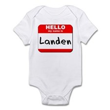Hello my name is Landen Infant Bodysuit