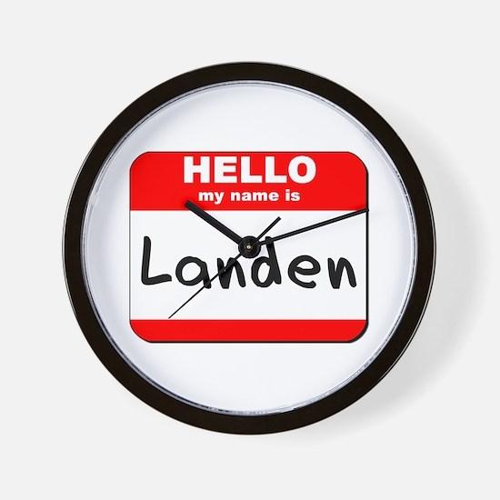 Hello my name is Landen Wall Clock