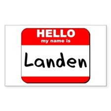 Hello my name is Landen Rectangle Decal