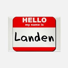 Hello my name is Landen Rectangle Magnet