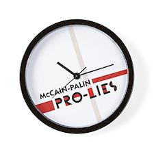 McCain Palin Pro Lies Wall Clock