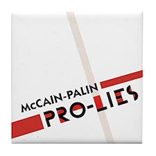 McCain Palin Pro Lies Tile Coaster