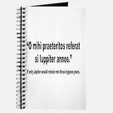 Latin Bygone Years Nostalgia Quote Journal