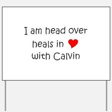 Cute Calvin Yard Sign
