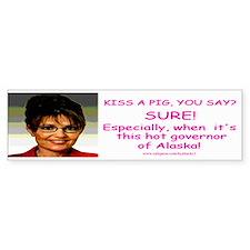 Palin - Kiss A Pig Bumper Sticker (10 pk)