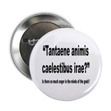 "Latin Angry Gods Quote 2.25"" Button (10 pack)"