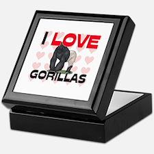 I Love Gorillas Keepsake Box