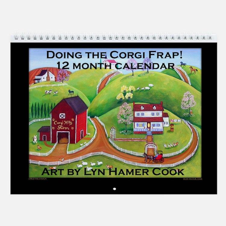 Doing the Corgi Frap Wall Calendar