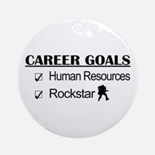 Human Resources Career Goals - Rockstar Ornament (