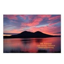 Sunset on Mt Konocti Postcards (Package of 8)