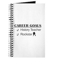 History Teacher Career Goals - Rockstar Journal