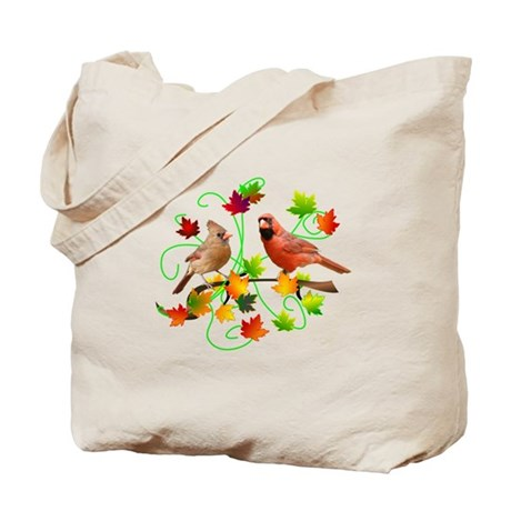 Cardinal Couple Tote Bag