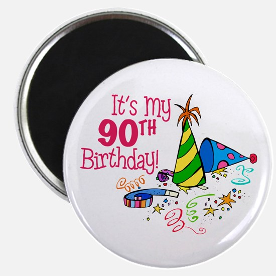 It's My 90th Birthday (Party Hats) Magnet