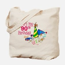It's My 90th Birthday (Party Hats) Tote Bag