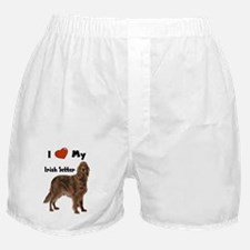 I Love My Irish Setter Boxer Shorts
