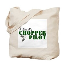 I Love My Chopper Pilot Tote Bag